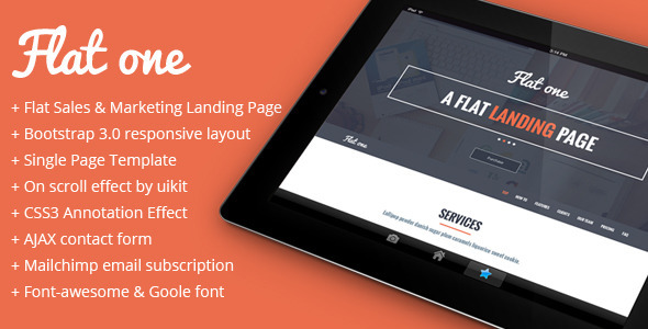 ThemeForest Flatone Sales and Marketing Landing Page 6219696