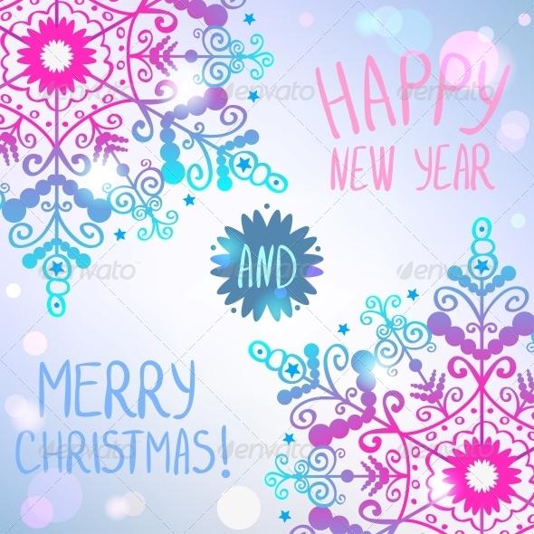 GraphicRiver Snowflake Card 6269143
