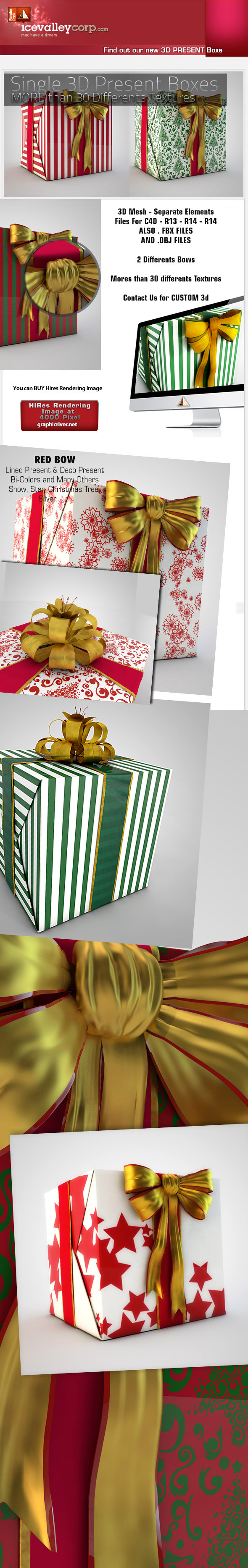 3DOcean 3D Gift Present Box High Quality Mesh 6269152