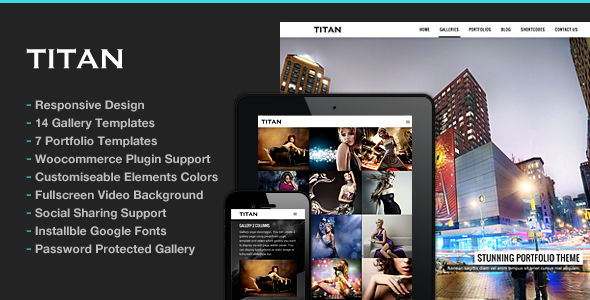 Titan Responsive Portfolio Photography Theme - Photography Creative