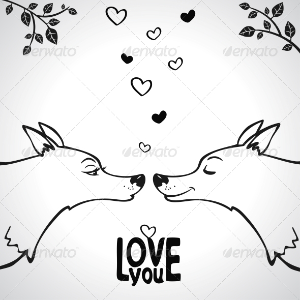 GraphicRiver Wolf Love 6269285