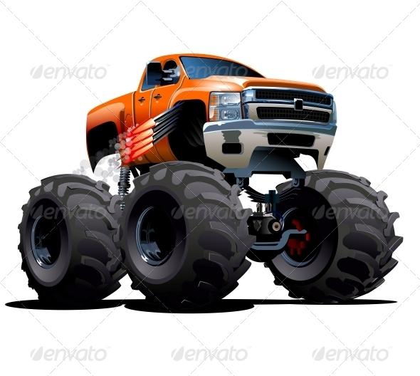 GraphicRiver Cartoon Monster Truck 6269362