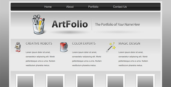 ThemeForest Art Folio Portfolio Template 27696
