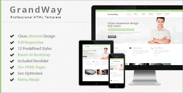 GrandWay - Fully Responsive HTML5/CSS3 Template - Business Corporate