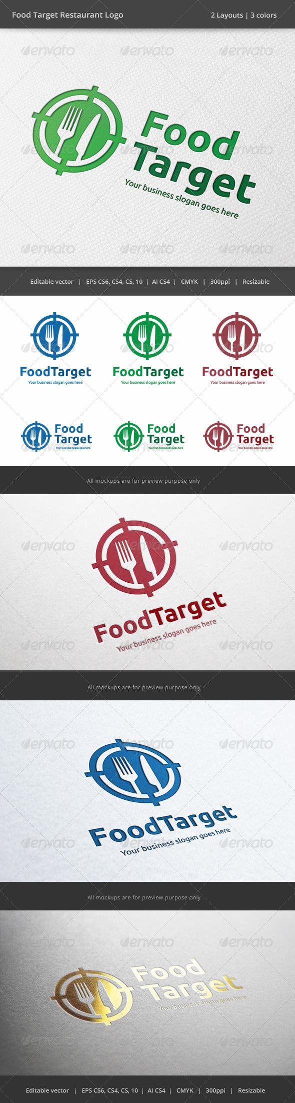 GraphicRiver Food Target Restaurant Logo 6269618