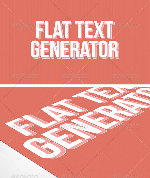 GraphicRiver 3D Flat Text Generator 6270922