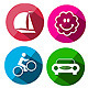 Long Shadow Icons - GraphicRiver Item for Sale