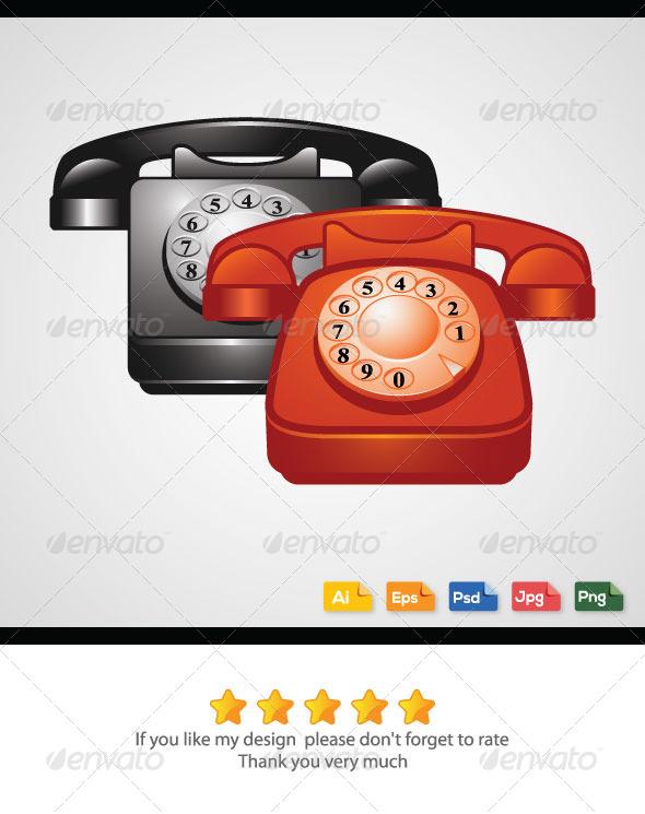 GraphicRiver Classic Telephones 6271219