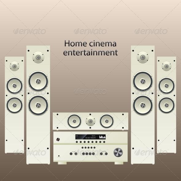 GraphicRiver Home Cinema Speaker System 6272408