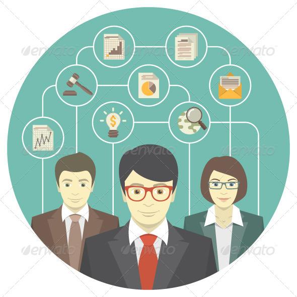 GraphicRiver Teamwork of Professionals 6272780