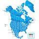North America Map Vector  - GraphicRiver Item for Sale