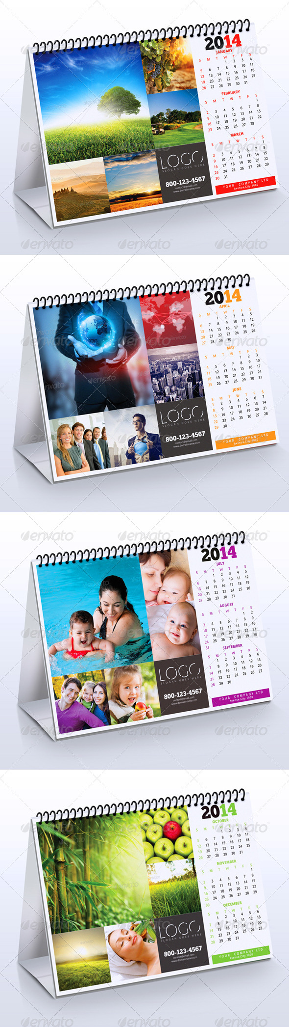 GraphicRiver 2014 Desk Calendar 6273458