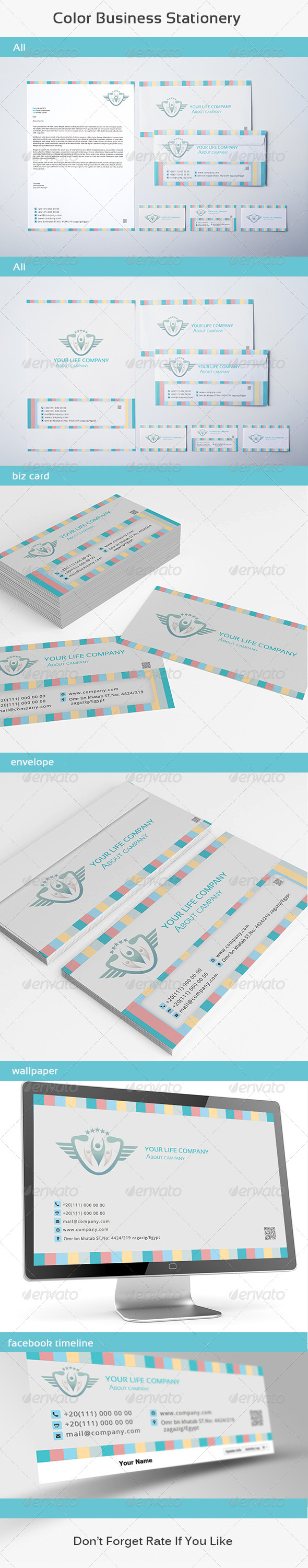 GraphicRiver Color Business Stationery 6273533