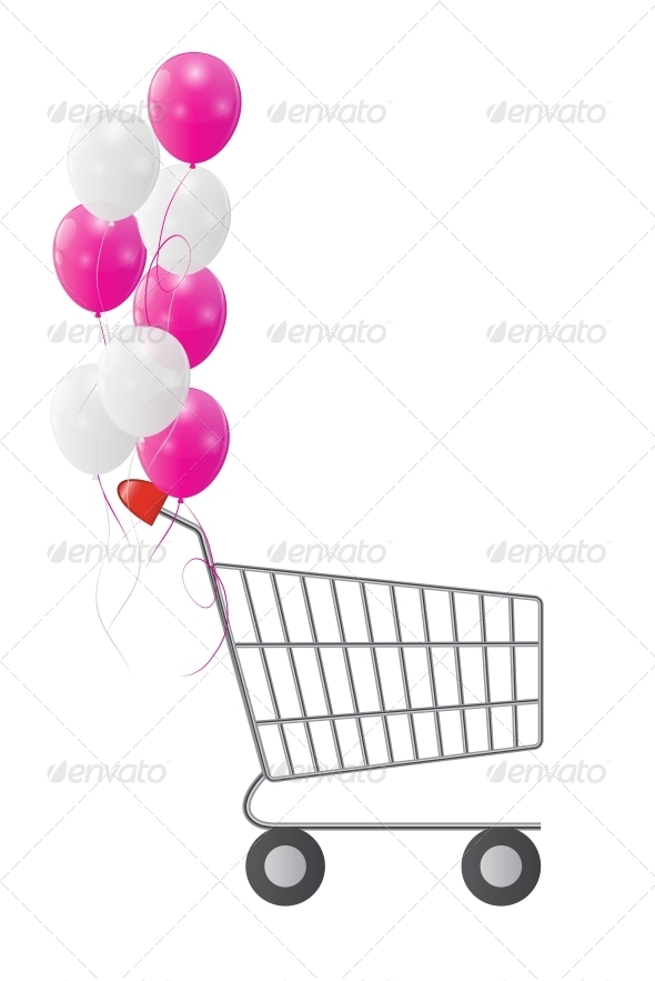 GraphicRiver Vector Illustration of Empty Supermarket Shopping 6273653