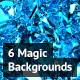 6 Magic Sparkling Backgrounds - GraphicRiver Item for Sale