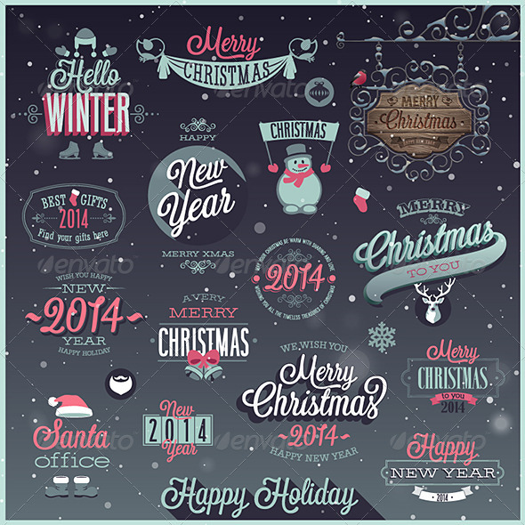 GraphicRiver Christmas Set of Labels and Emblems 6274104