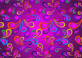 Original Paisley on Violet Background - PhotoDune Item for Sale