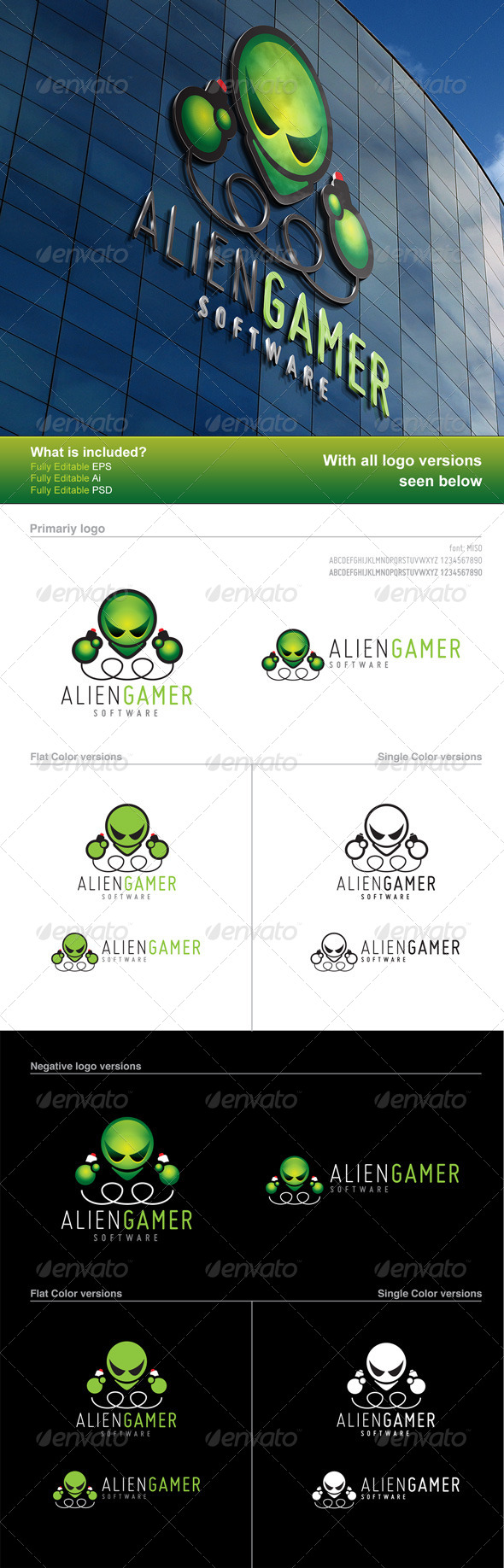 Alien Gamer Logo - Logo Templates