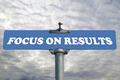 Focus on results road sign - PhotoDune Item for Sale