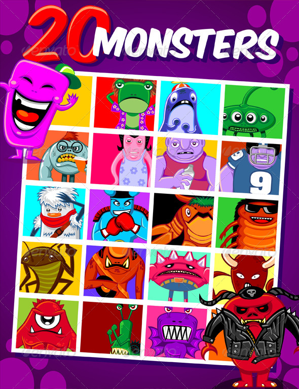 GraphicRiver 20 Monsters 6275071