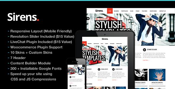 Sirens v1.8.1 | ThemeForest Multi-Purpose Stylish Business Theme
