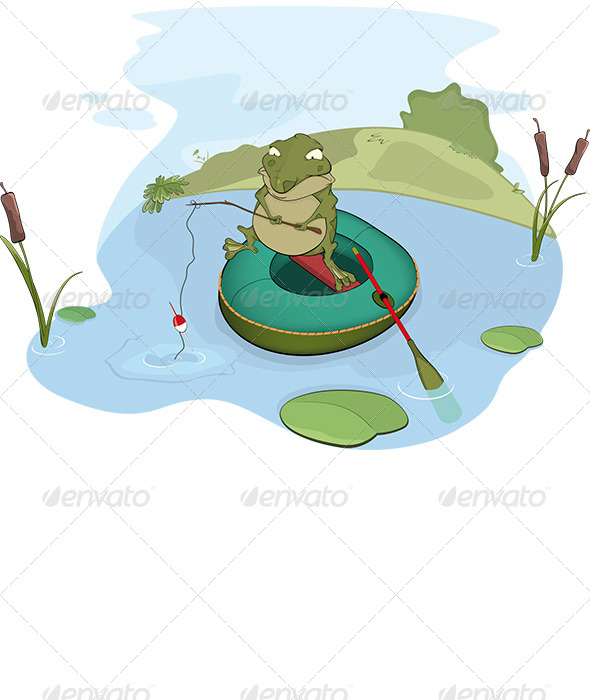 GraphicRiver Toad the Fisher Cartoon 6276046