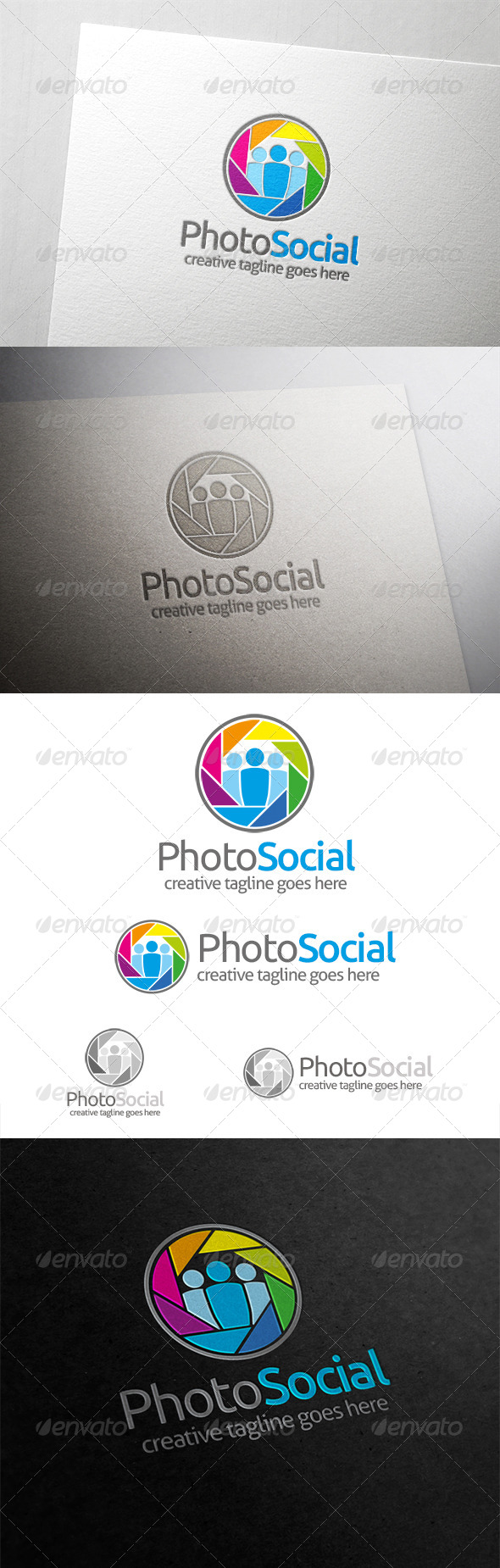 GraphicRiver Photo Social Logo 6276345