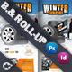 Winter Tires Billboard Roll-Up Template - GraphicRiver Item for Sale