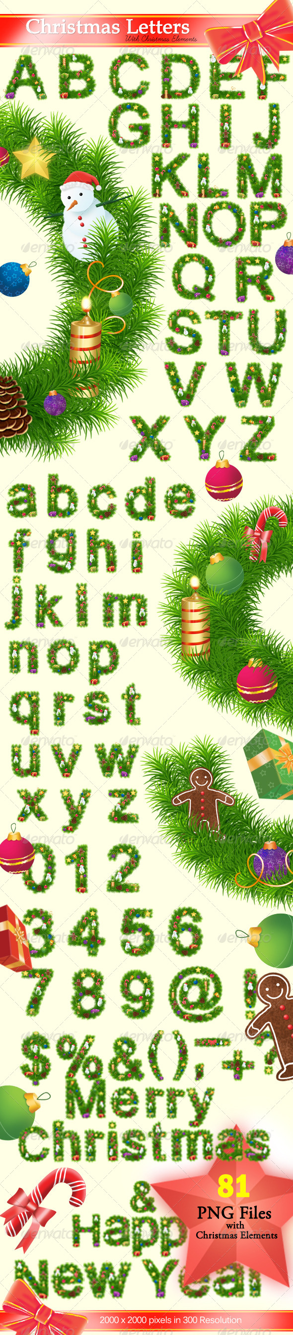GraphicRiver Christmas Letters 6276676
