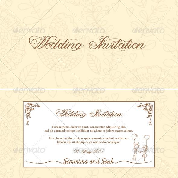 GraphicRiver Wedding invitation card 6244349