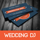 Wedding DJ Business Card - GraphicRiver Item for Sale