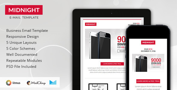 ThemeForest Midnight Premium Responsive HTML Email Template 6277308