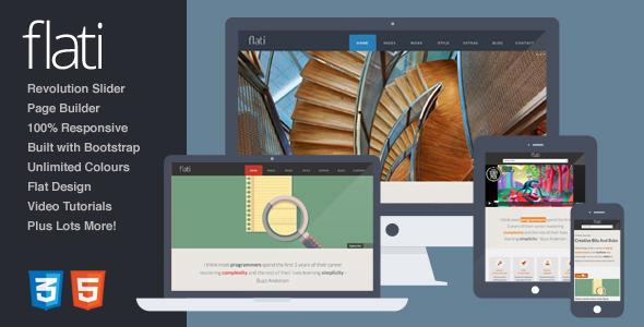 ThemeForest Flati Responsive Flat Bootstrap WordPress Theme 6184186