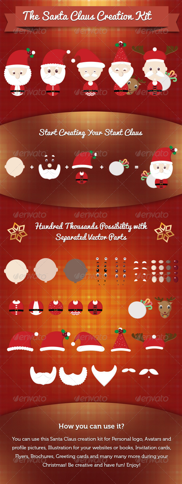 GraphicRiver Santa Claus Creation Kit 6277726