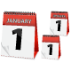 Icon Calendar New Year - GraphicRiver Item for Sale