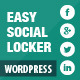 Easy Social Locker - CodeCanyon Item for Sale