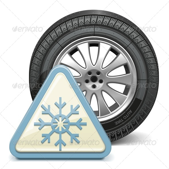 GraphicRiver Vector Wheel with Snowflake Sign 6277829