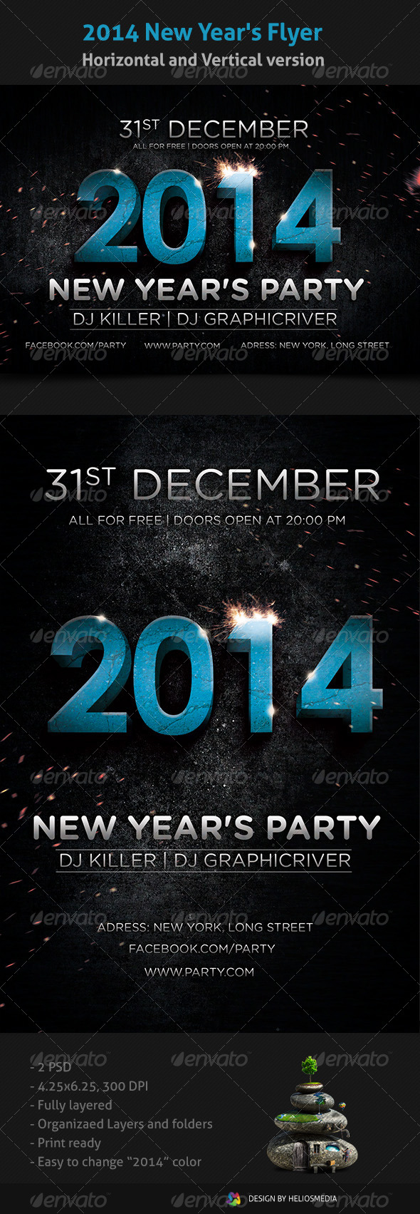 GraphicRiver 2014 New Year's Flyer 6277830