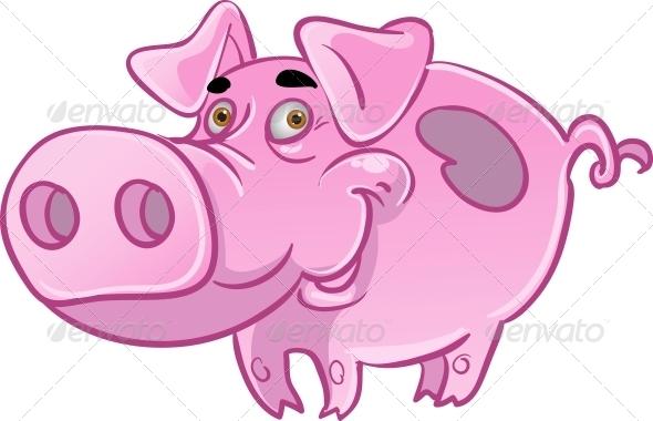 GraphicRiver Pink Pig 6278349