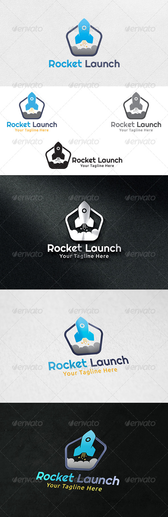 GraphicRiver Rocket Studio Logo Template 6278972