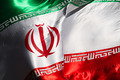 iran flags in the wind - PhotoDune Item for Sale