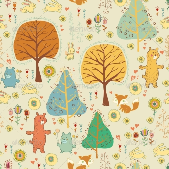 GraphicRiver Seamless Pattern in Childish Cartoon Style 6280056