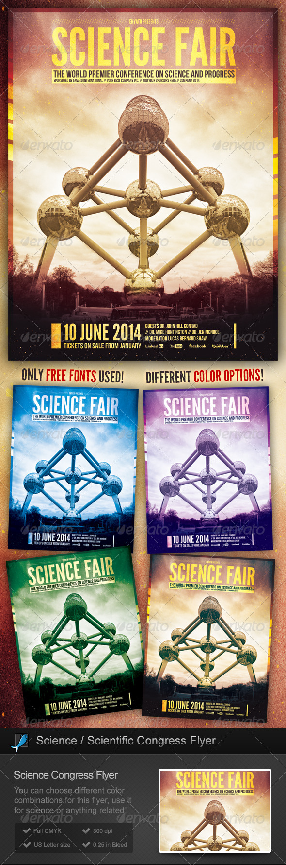 GraphicRiver Science Scientific Congress Flyer 6280062
