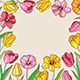 Background with Red and Yellow Tulips - GraphicRiver Item for Sale