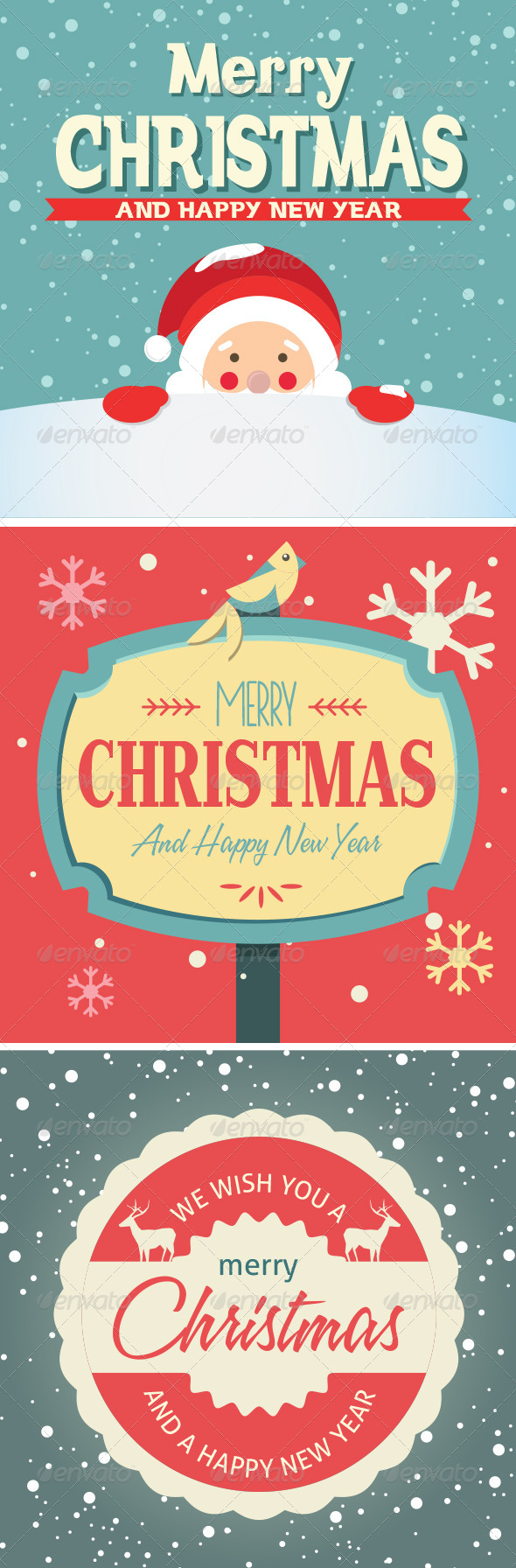 GraphicRiver Vector Elements for Christmas Cards 6280977