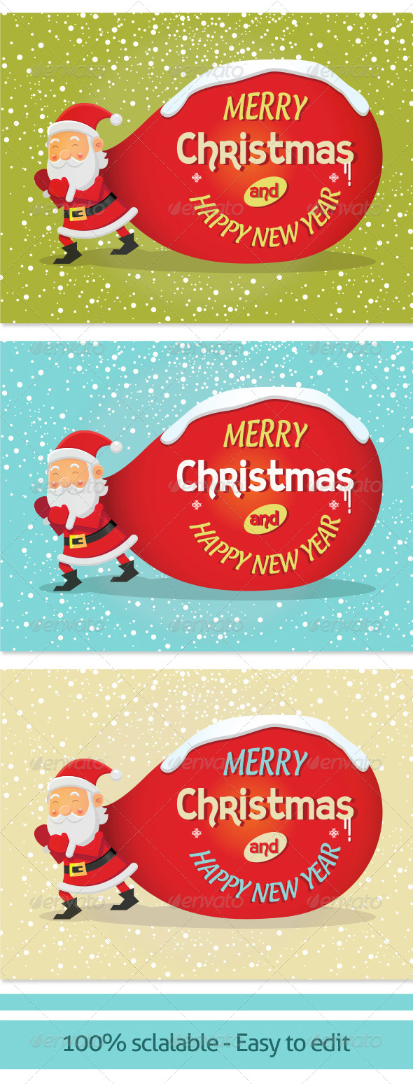 GraphicRiver Vector Background for Christmas Card 002 6281428