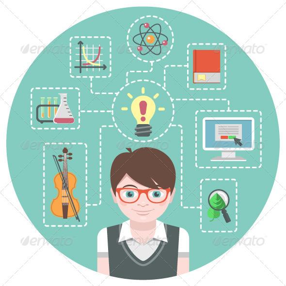 GraphicRiver Genius Boy Concept 6281443