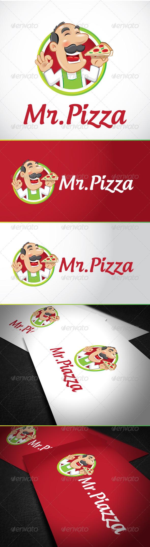 GraphicRiver Mr Pizza Logo Template 6281681