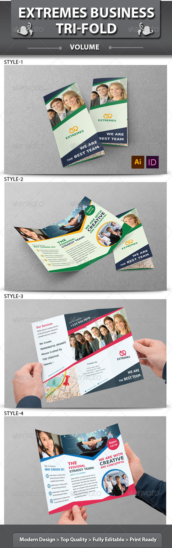 GraphicRiver Extremes Business TriFold Brochure v1 6258207