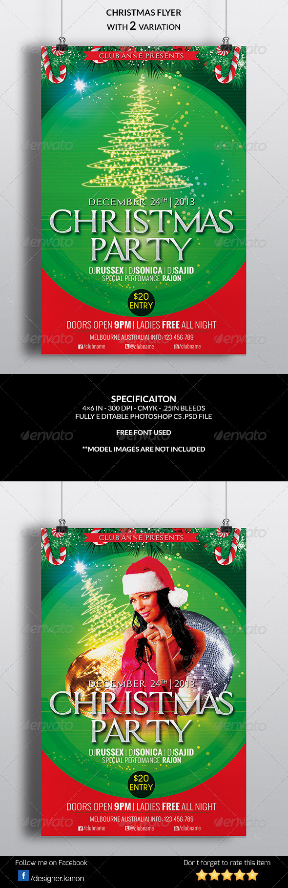 GraphicRiver Christmas Flyer 6284141
